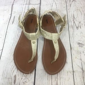Mossimo Gold Buckle Sandals